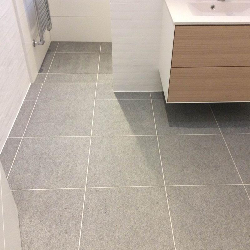 Granit Gulvfliser Gråsort Brændt & Børstet 50×50 Cm