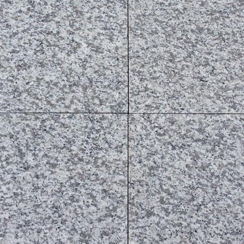 Granit Fliser Lysgrå Brændt & Børstet Ude 50×50 Cm 30 Mm