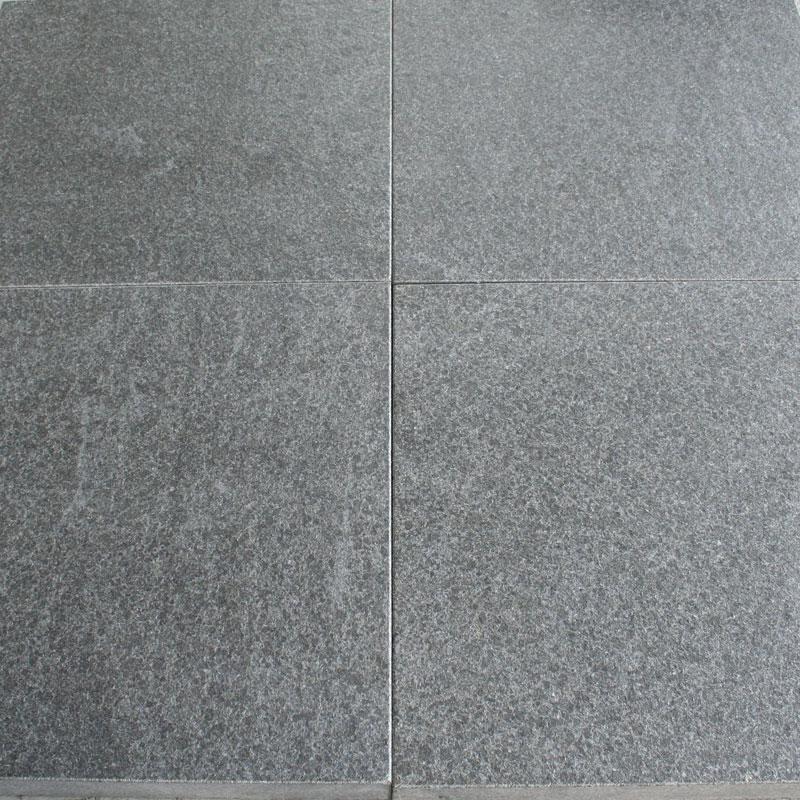 Granit Fliser Sortgrå Brændt & Børstet Ude 50×50 Cm 40 Mm
